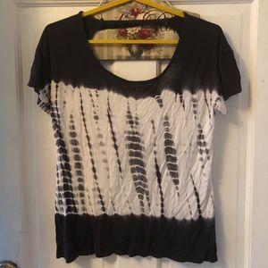 Black & White tye dye top Sz. S